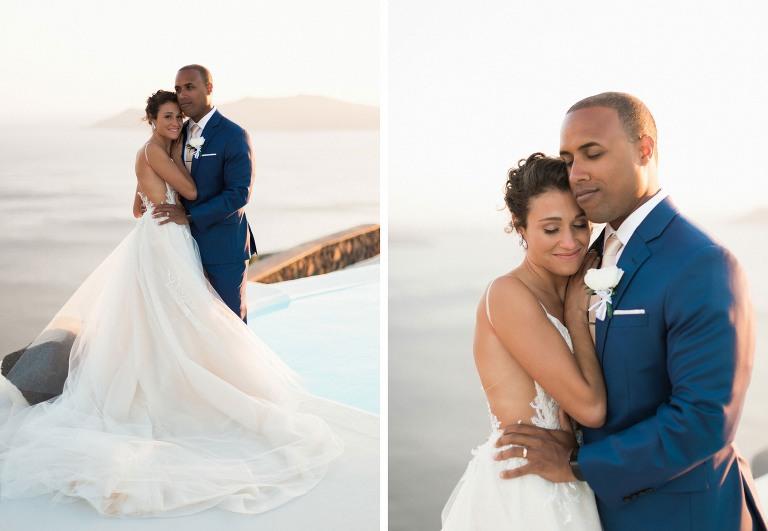 stunning getaway wedding santorini